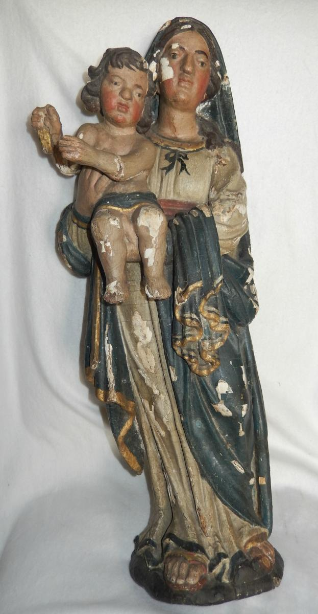 Great Virgin And Child XVIIth-xviiith