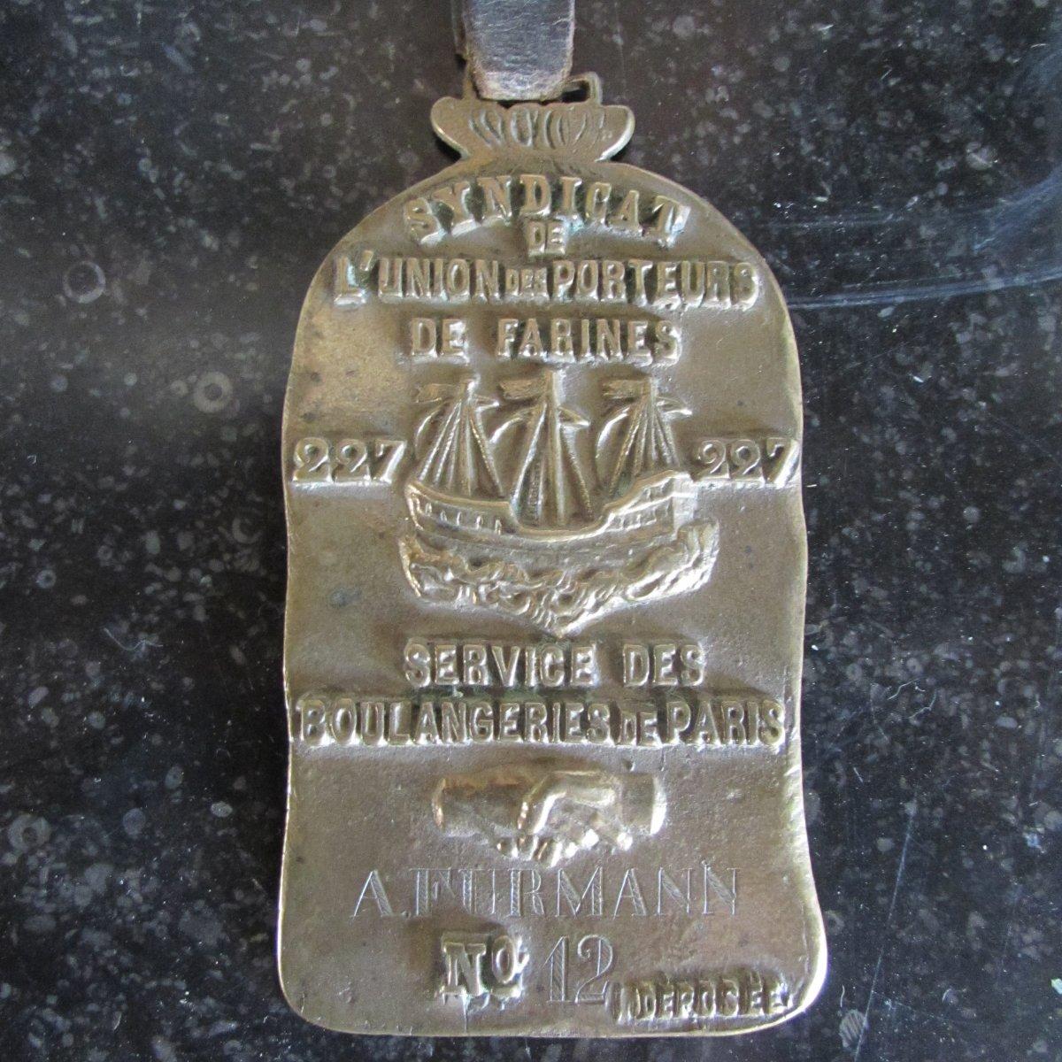 Plaque De Métier , Porteur De Farine