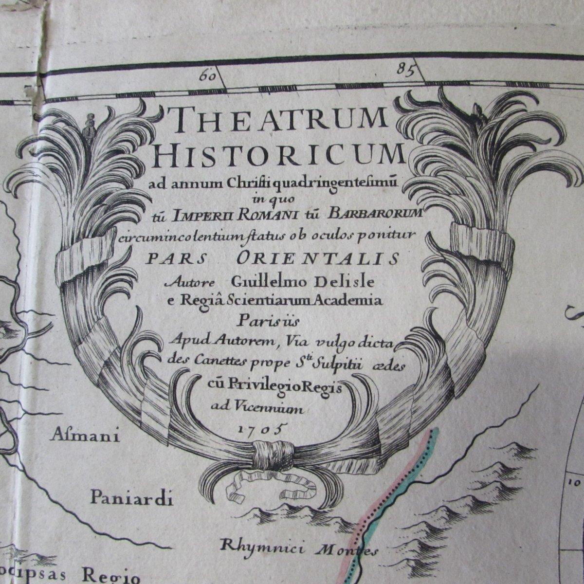 Carte Ancienne 1705 Mer Caspienne