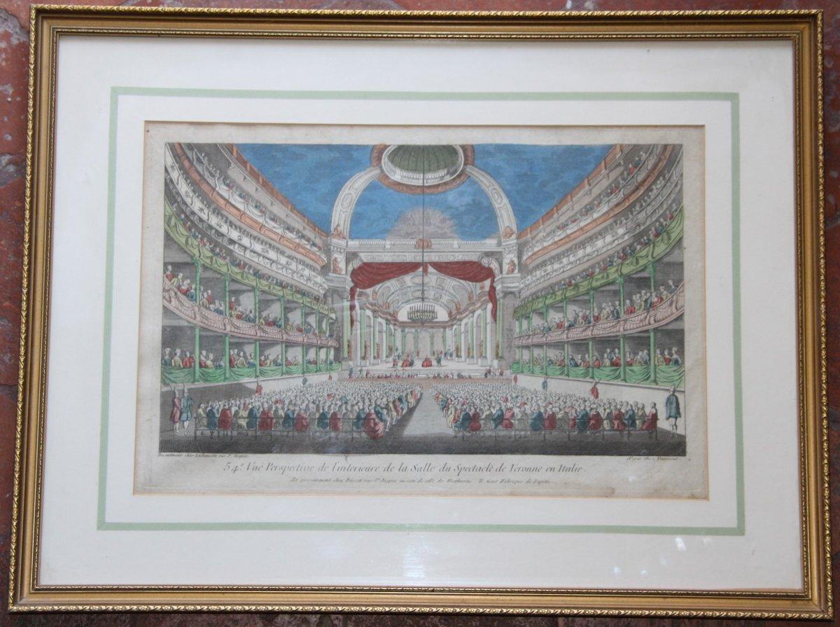 Vue Perspective Interieur De La  Salle De Spectable Véronne Itlaie