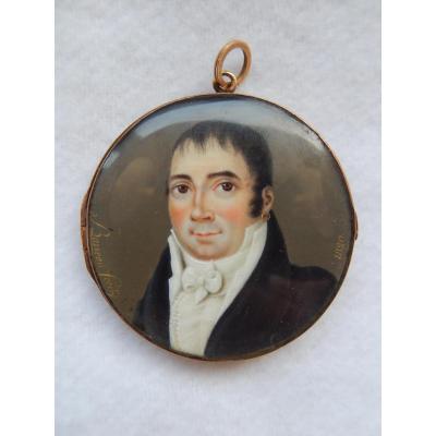 Miniatures Or Et Ivoire Par Barreau Fecit 1820