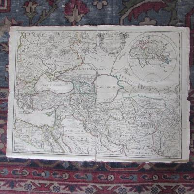 Old Map 1705 Caspian Sea