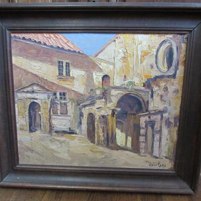 Oil On Panel, South Of France, Osietzki