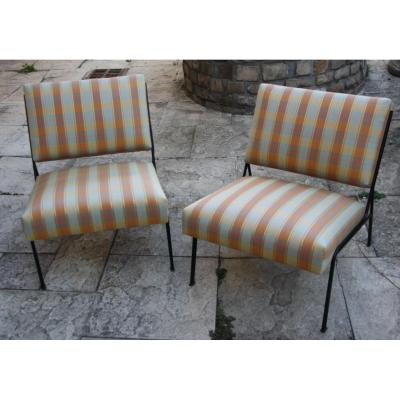 Pair Of Fireside Chairs Model G2, Guariche Airborne Edition