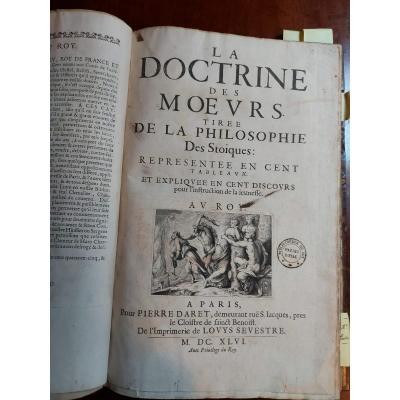 Old Book La Doctrine Des Mores From The Philosophy Of The Stoics 1646