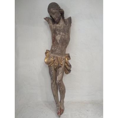 Christ Bois Polychrome XVII