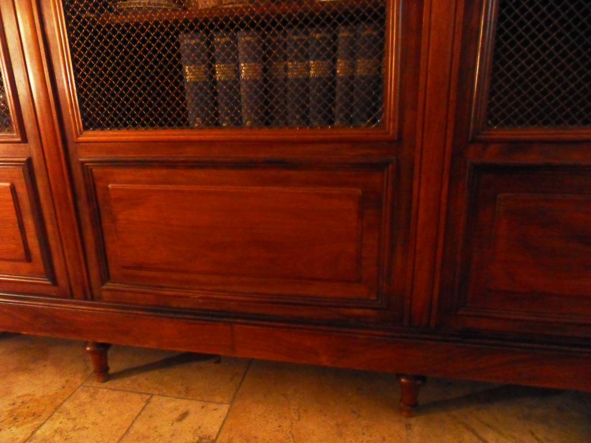 Bibliothèque Palissandre Style Louis XVI