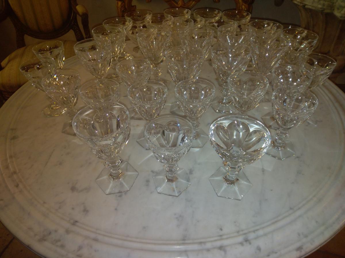 Service Harcourt Baccarat 36 Verres Eau Vin Coupes à Champagne