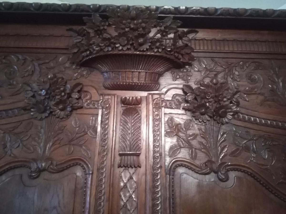 Armoire  Sculptée  Normande Chêne XIX