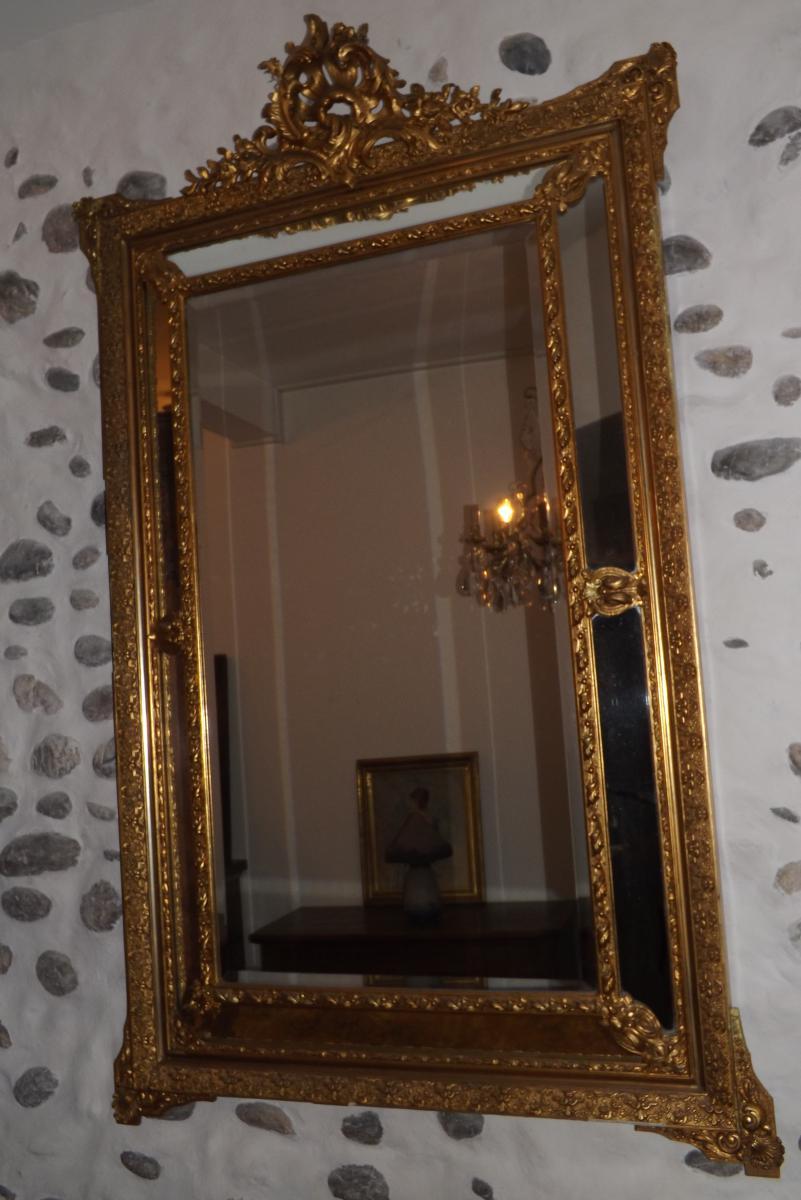 Grand Miroir à Part Close XIX,style Louis XV