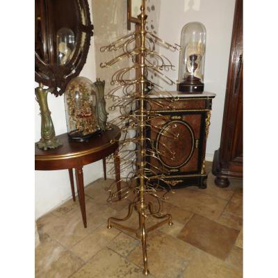 Golden Column To Display Plates, Plate Rack, 1900