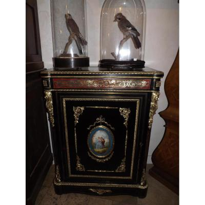 Meuble d'Appui Napoléon III Boulle /porcelaine Sevres/bronze