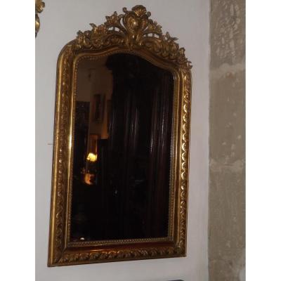 Miroir Doré époque XIX Style Louis XV