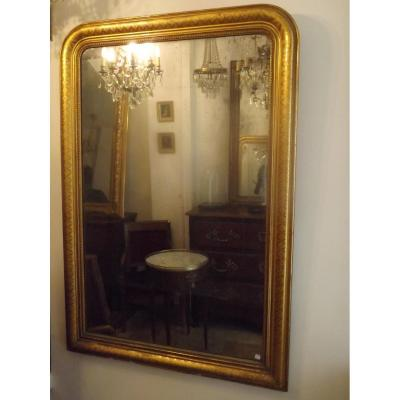 Grand Miroir Louis Philippe Doré XIX
