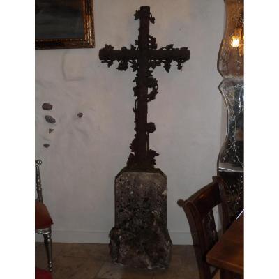 Grande Croix fonte De Jardin  XIX