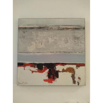 Table Huile Sur Toile  Du Céramiste Et Peintre Jacques Pouchain