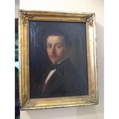 Portrait jeune homme époque Empire XIX