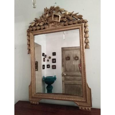 Miroir Louis XVI Doré
