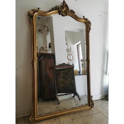 Grand Miroir Doré Louis XV