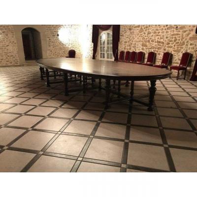 Immense Table De Château Chêne 7 Mètres