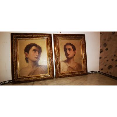 Pair Of Portrait Ephebe 1900
