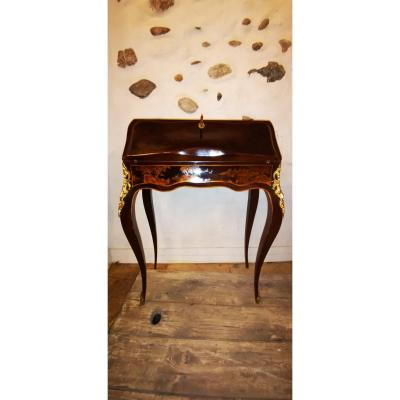 Small Lady's Secretary Office In Chinese Lacquer