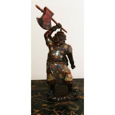 Antique Japanese Statue Cloisonned