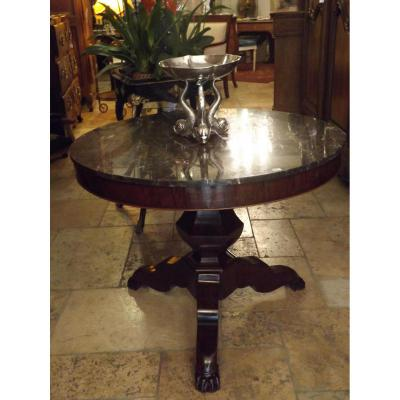 Mahogany Pedestal Dining Lion Claw Feet Then XIX