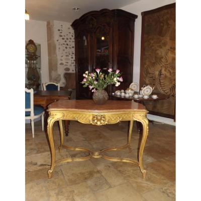 Table De Milieu En Bois Doré De Style Louis XV époque XIX