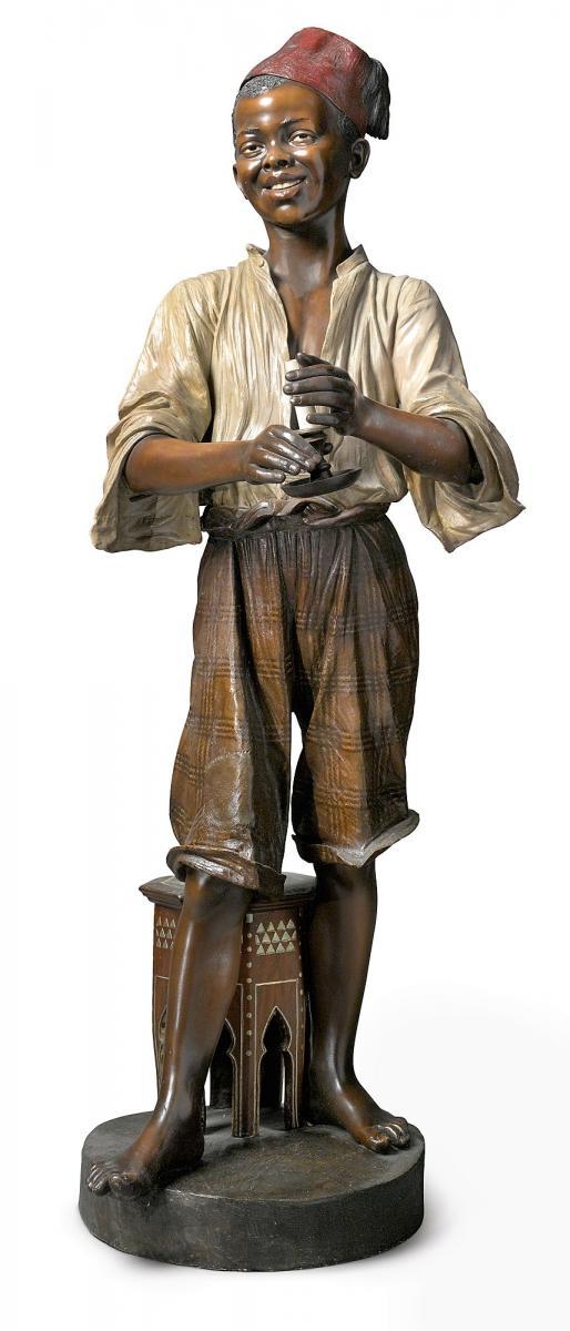 Friedrich Goldscheider, Très Grande Sculpture Orientaliste Grandeur Nature