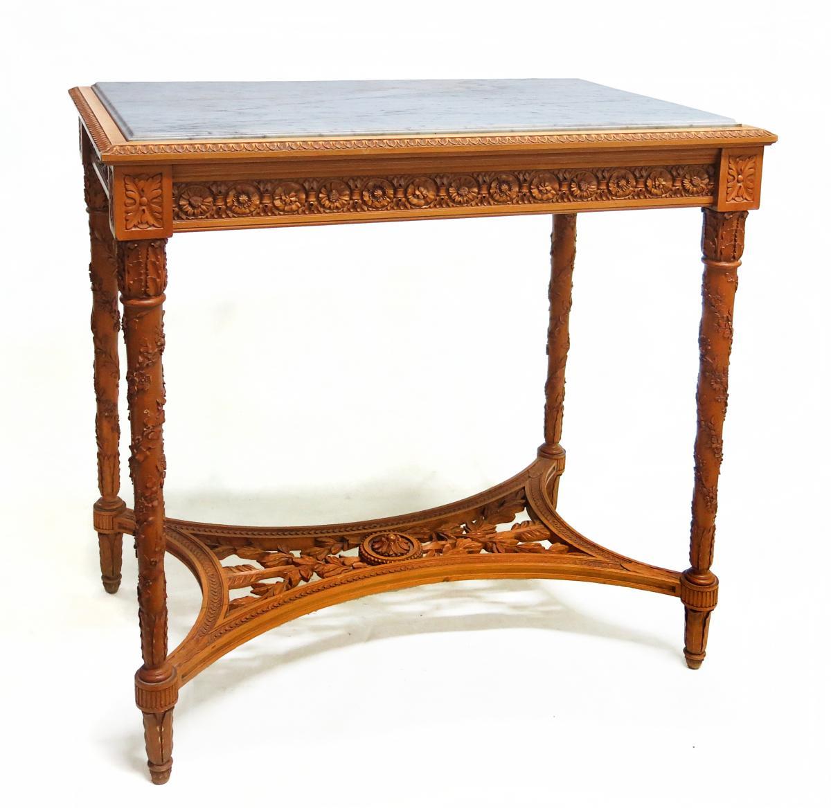 Table De Style Louis XVI En Citronnier d'Honoré Dufin (?-1892)