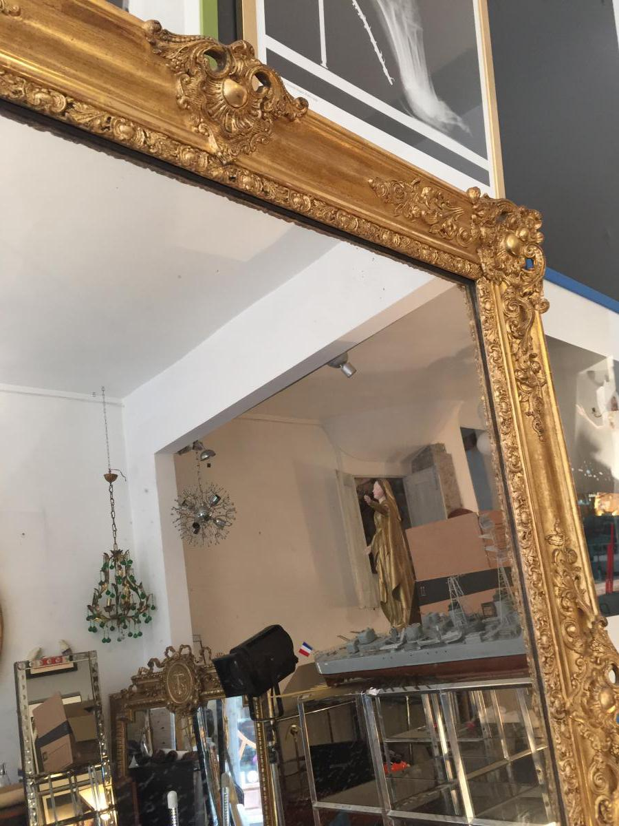 H 140 miroir xix eme poque restauration glace mercure for Restauration miroir