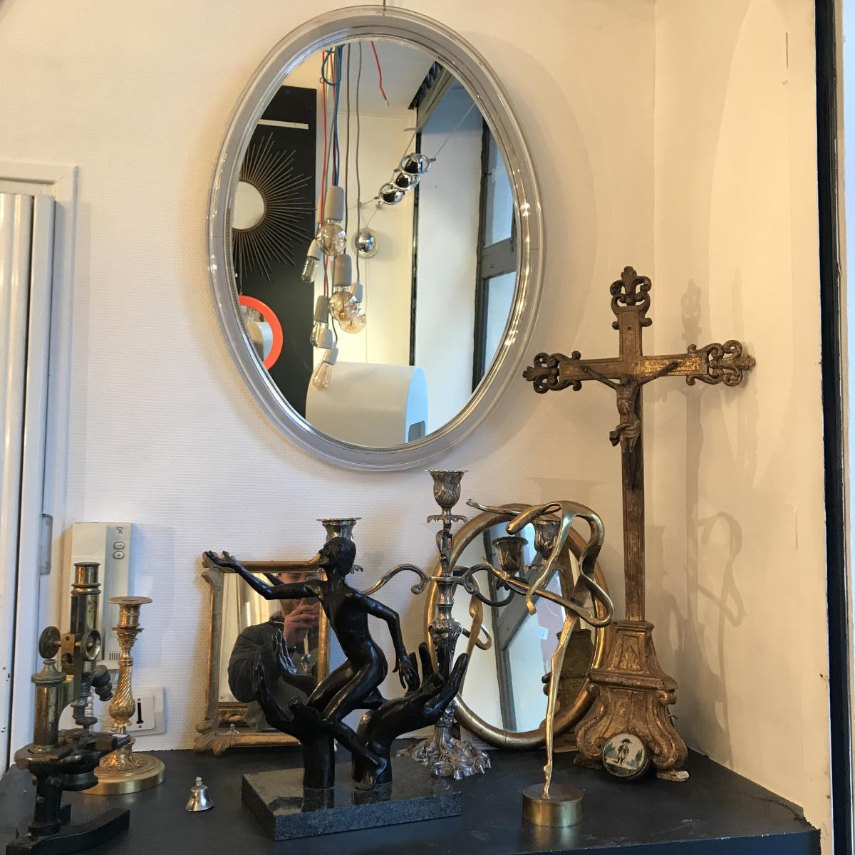 Miroir Ovale Design 1970