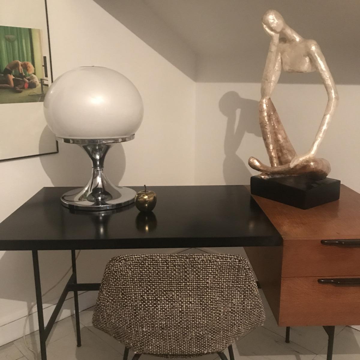 Harveiluce  iguzzini , Luminaire à Poser Design 1970 , Lampe Signé Guzzini