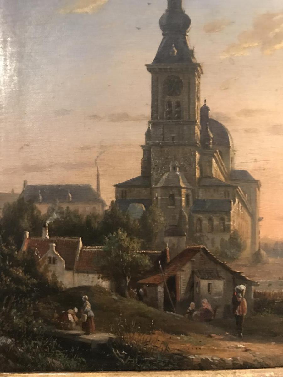 Tableaux , Hsp Francois Jean Louis Boulanger Vue Animée De Gand Belgique