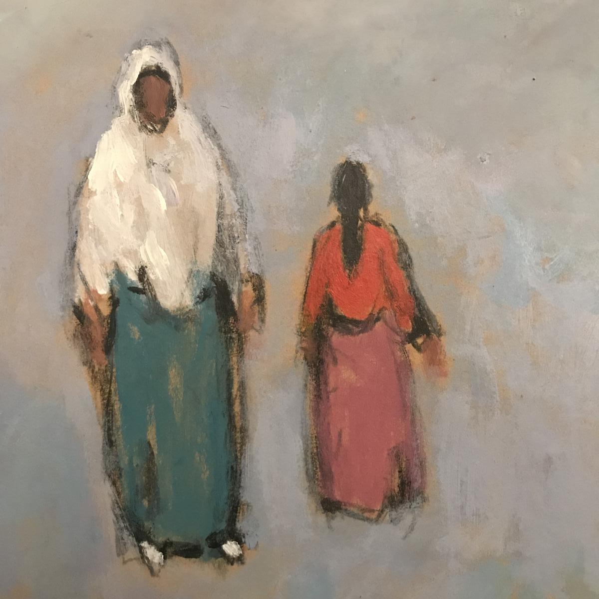 Tableau Orientaliste, Huile Sur Carton Signé  Mohamed Khiari XXeme Siècle.