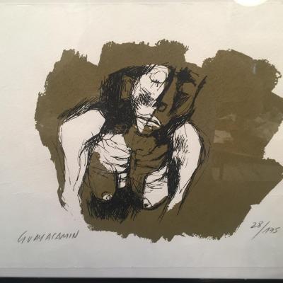 Oswaldo Guayasamin Lithographie Signé, Numéroté