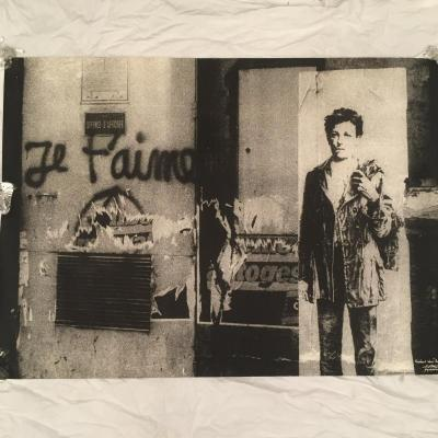 "Ernest PIGNON ERNEST "" Rimbaud Dans Paris "" Rare Et Grande Sérigraphie 1978"