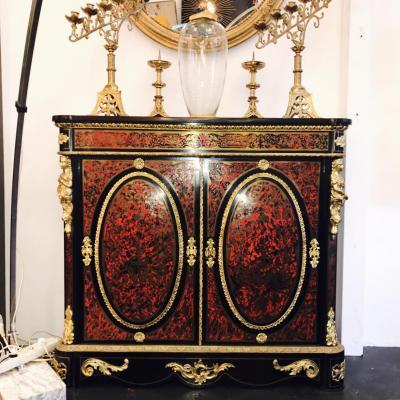 Marqueterie Boulle Meuble d'Appui à Double Médaillon Napoleon 3