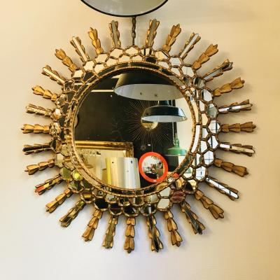 Miroir Soleil / Sorciere En Bois Doré