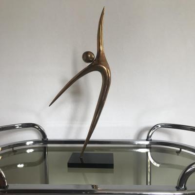 Alain Cantarel , Sculpture En Bronze Doré Signé Et Numéroté.