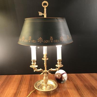 Luminaire , Lampe Bouillotte Aux Cygnes En Bronze Doré Epoque XIXeme Siècle