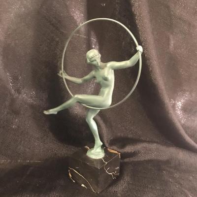 Sculpture, Danseuse Art Déco Signé Briand , Marcel Bouraine Max Le Verrier