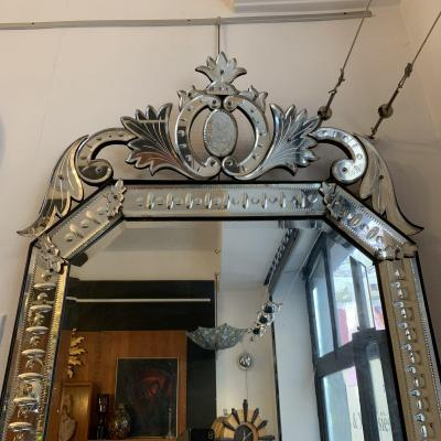 H 135 Venetian Mirror, Late Nineteenth Time.
