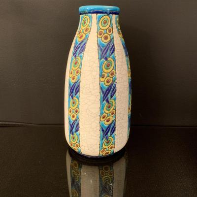 Keramis Boch La Louvière Charles Catteau Vase De Forme Ovoïde Vers 1930 Art Déco