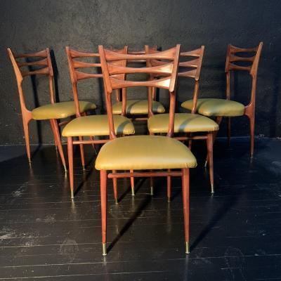 Stella , Suite De 6 Chaises Design 1960