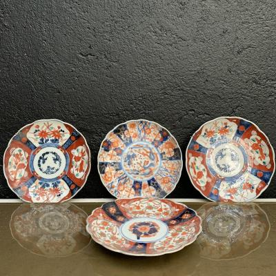 Japan, Suite Of 4 Imari Porcelain Plates