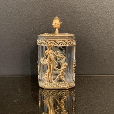 Box, Crystal And Gilt Bronze Box, XIX Eme Century