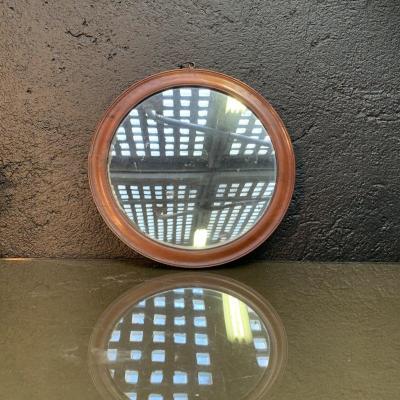 Miroir Rond En Acajou
