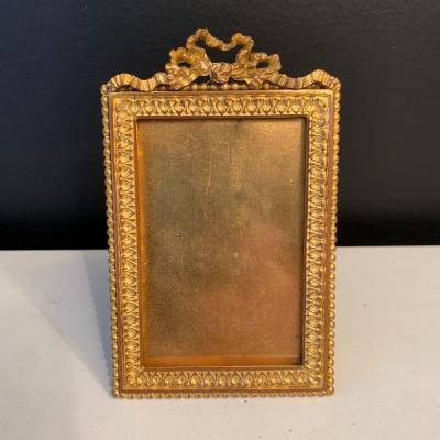Photo Frame In Gilt Bronze XIX Eme Century.